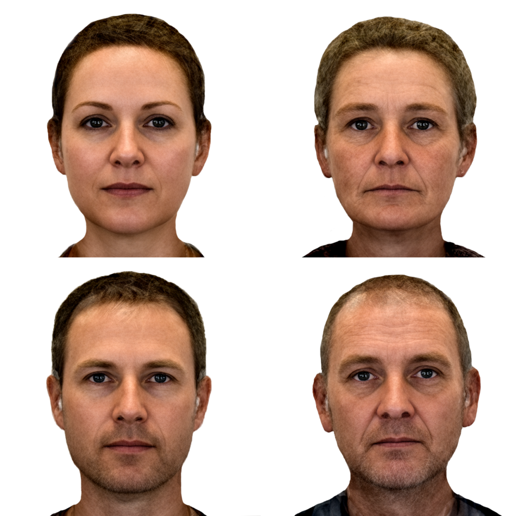 Aging faces