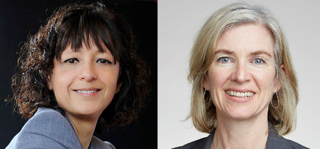 Emmanuelle Charpentier and Jennifer A. Doudna; the Awardees for their development of CRISPR-Cas9